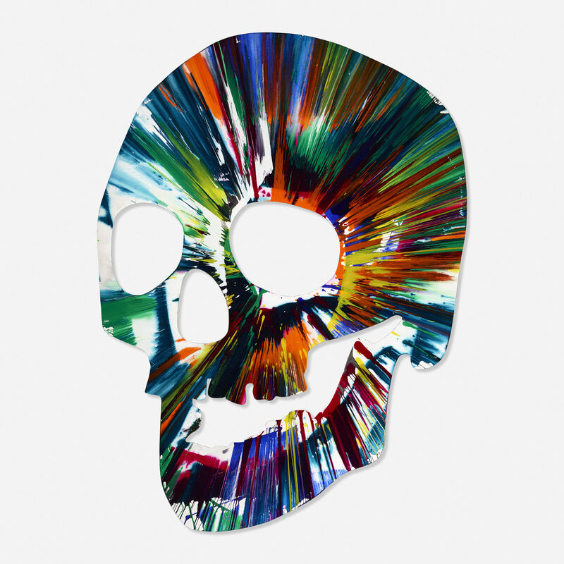 Damien Hirst, 'Signed Skull Spin Painting', 2009, Painting, Acrylic on paper, Rago/Wright