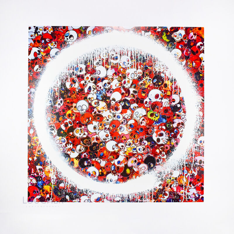 Takashi Murakami, 'Enso: Memento Mori Red', 2015, Print, Offset print, Lougher Contemporary