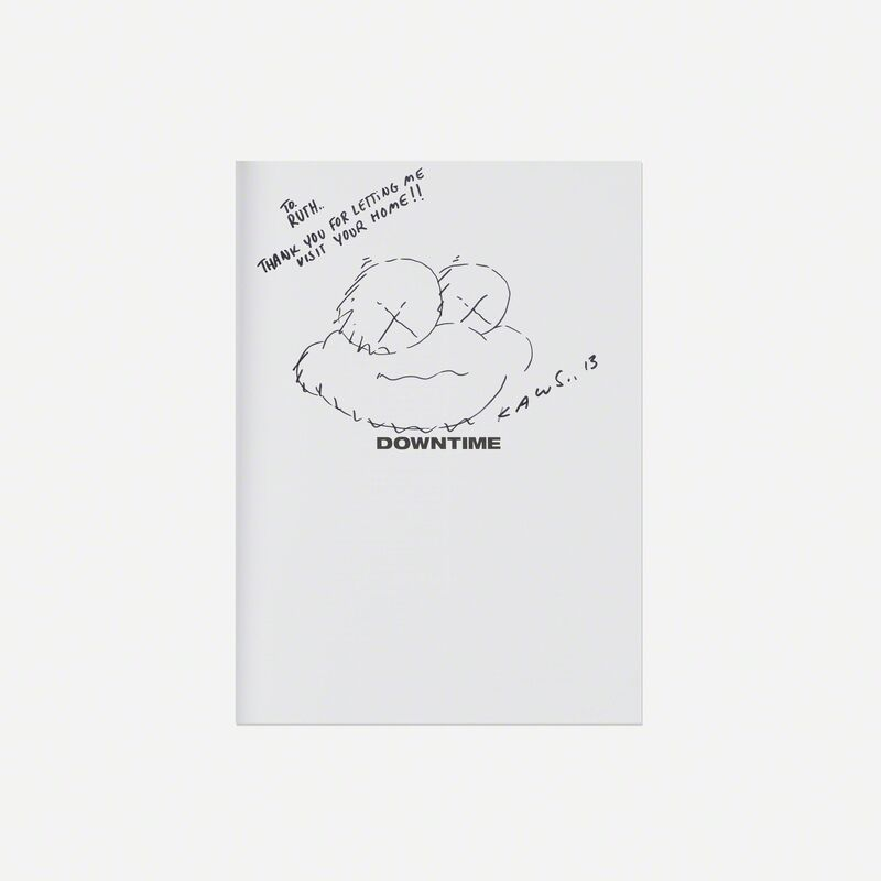 KAWS, 'Downtime', 2012, Books and Portfolios, Printed paper with ink drawing, Rago/Wright