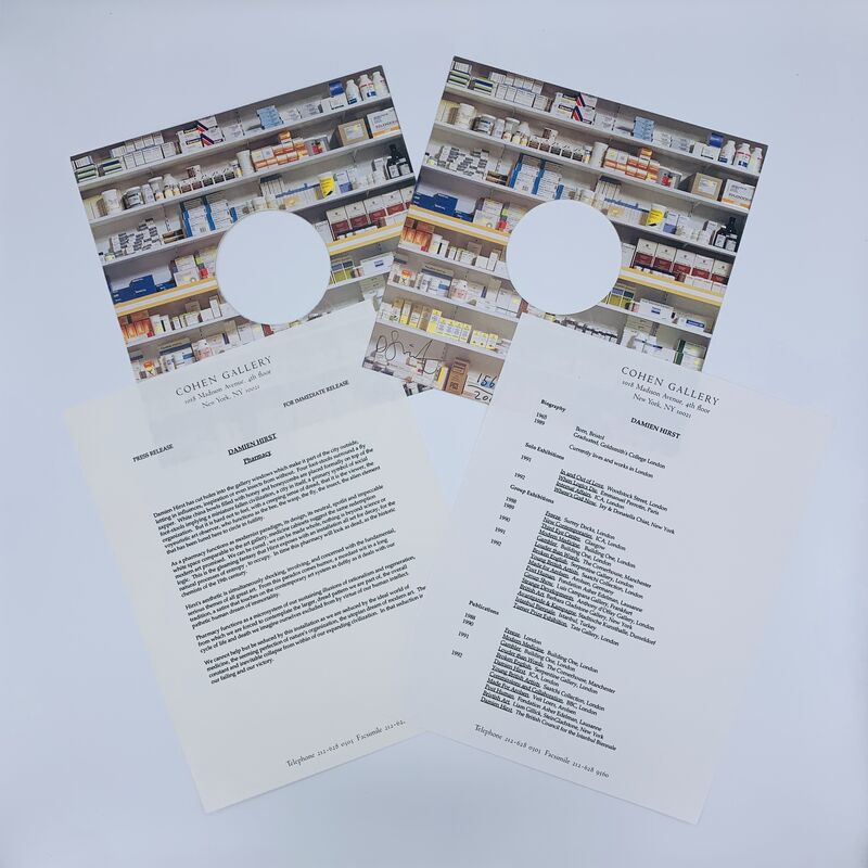 Damien Hirst, 'Pharmacy (Complete Set)', 1992, Print, Offset print, card, printed paper, black pen, Artificial Gallery