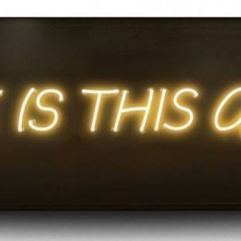 David Drebin, 'Where is this Going', 2014, Installation, Neon light, Art Angels