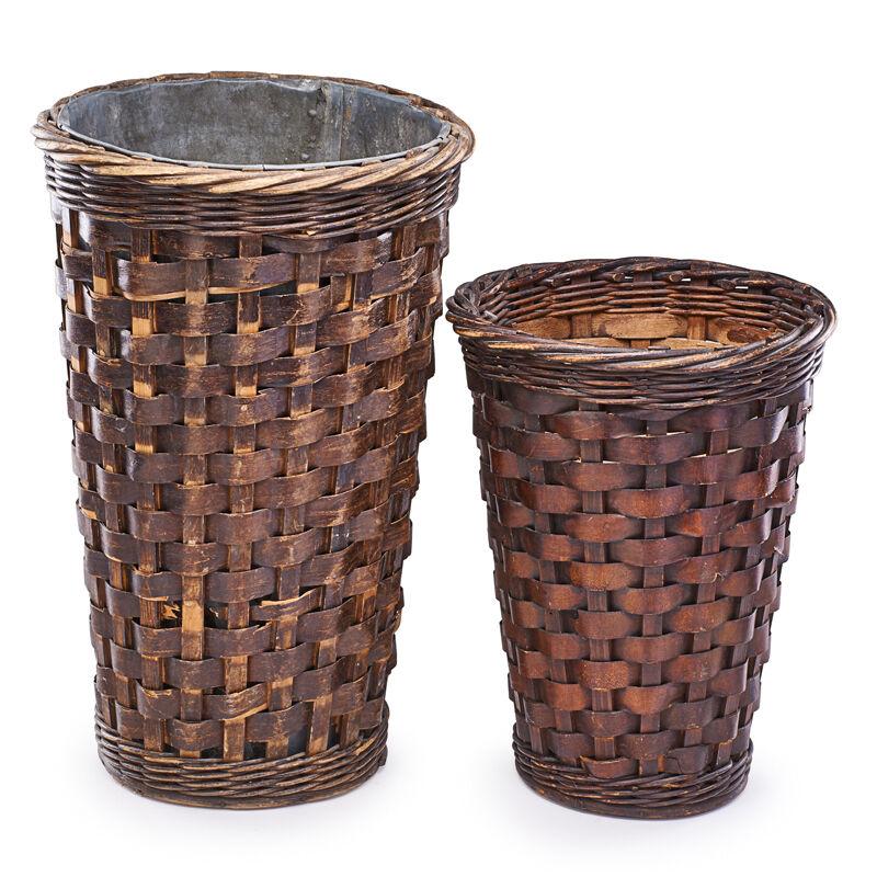 Jean-Michel Frank, 'Umbrella Stand And Waste Basket, France', Early 20th C., Design/Decorative Art, Woven Wicker, Lead, Rago/Wright