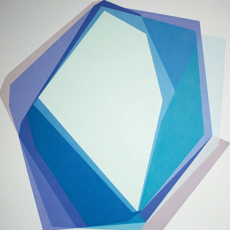 Kati Vilim, 'Blue Type', 2016, Painting, Oil on canvas mounted on panel, Mucciaccia Gallery