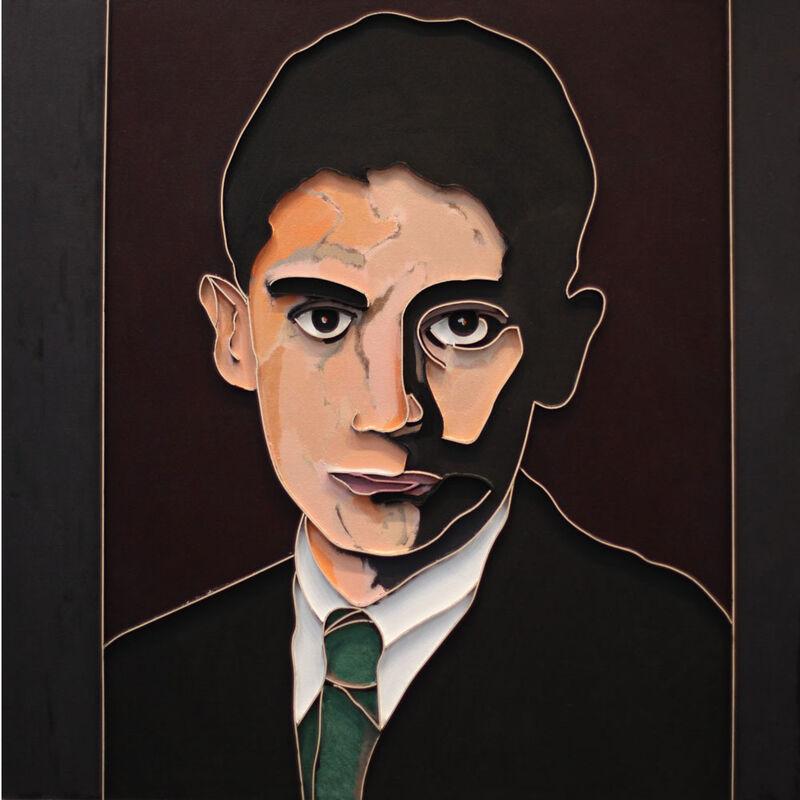 Lee Waisler, 'Kafka (Green Tie)', 2012, Painting, Acrylic and wood on canvas, Sundaram Tagore Gallery