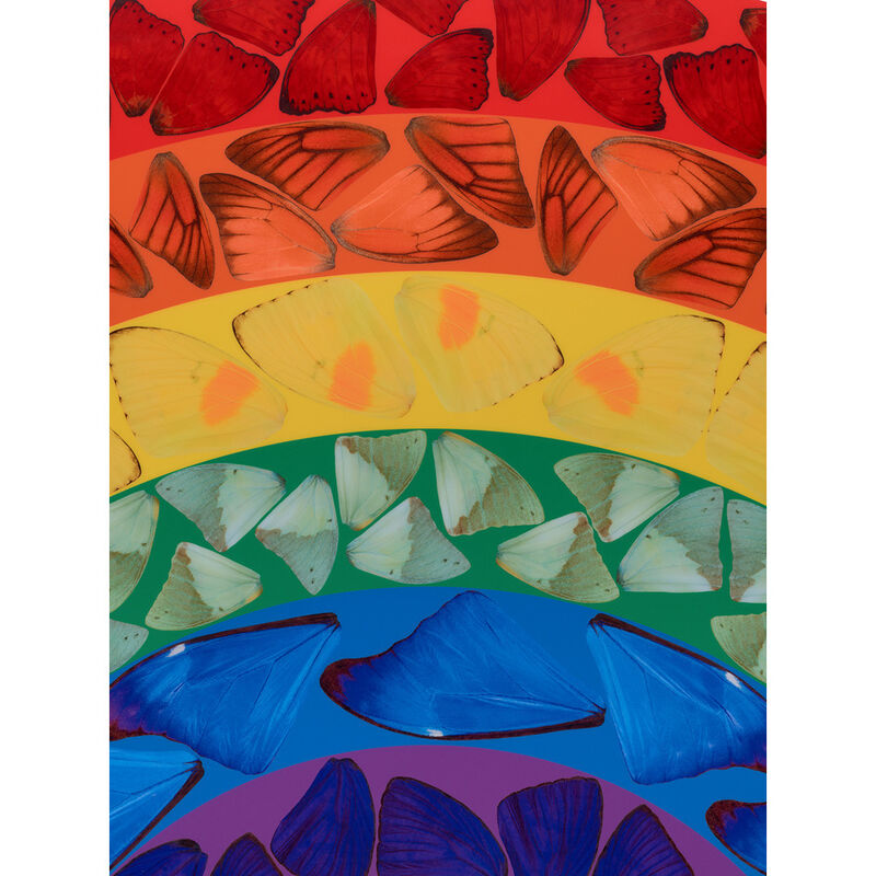 Damien Hirst, 'Butterfly Rainbow', 2020, Print, Laminated Giclée print on aluminum composite panel, Weng Contemporary