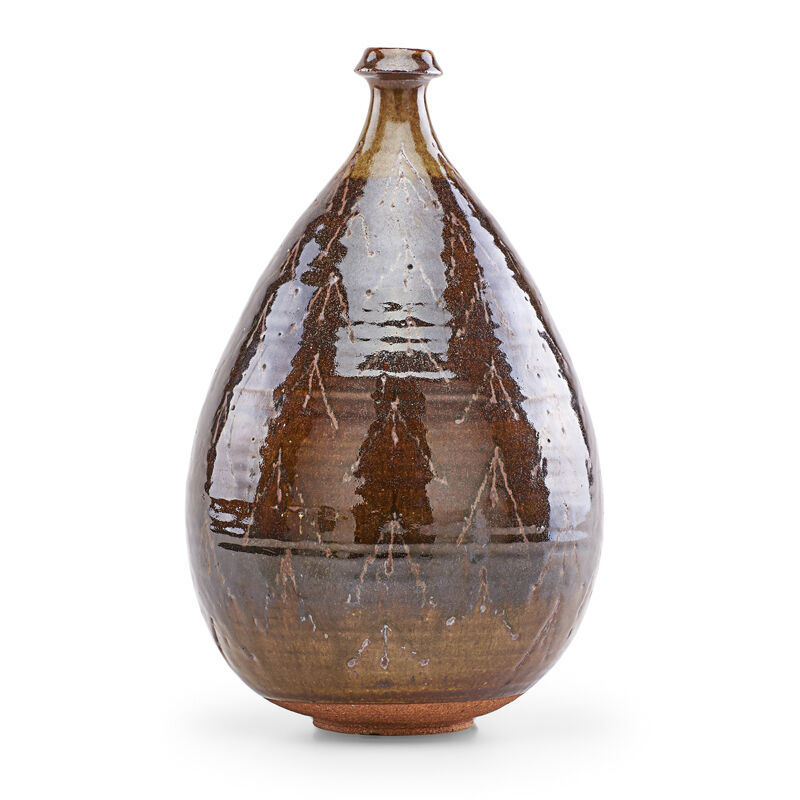 Antonio Prieto, 'Vase with wax-resist pattern, California', Design/Decorative Art, Glazed stoneware, Rago/Wright/LAMA