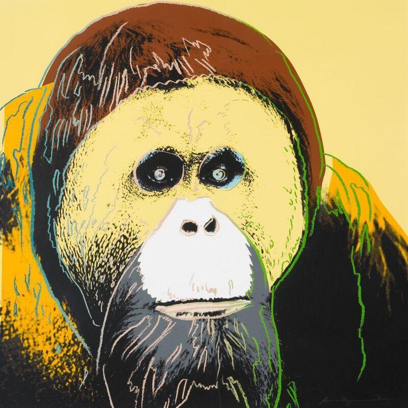 Andy Warhol, 'Orangutan II.299', 1983, Print, Screenprint on Lenox Museum Board, OSME Fine Art