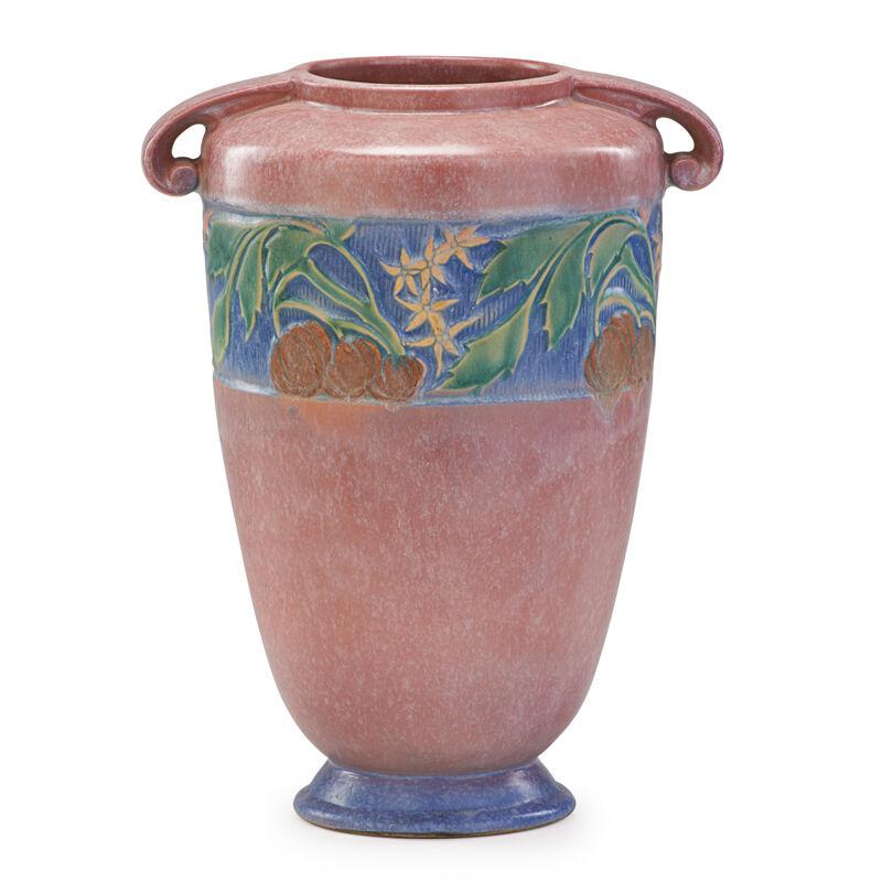 "Roseville Pottery, '12"" Pink Baneda Vase, Zanesville, OH', 1933, Design/Decorative Art, Rago/Wright/LAMA"