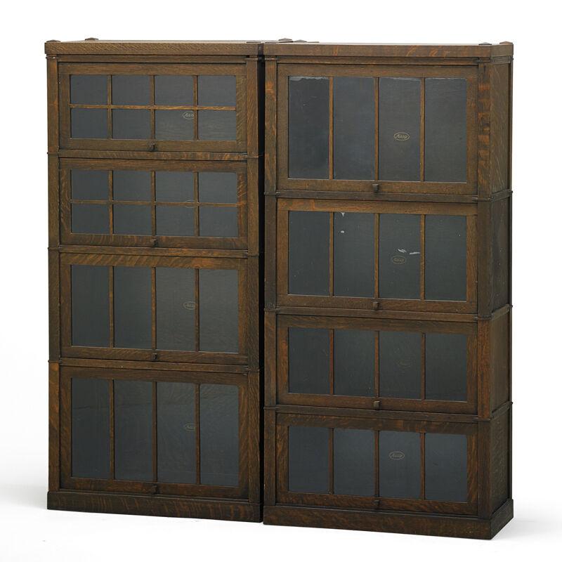 Macey, 'Six Stacking Barrister Bookcases, Grand Rapids, MI', ca. 1910, Design/Decorative Art, Rago/Wright