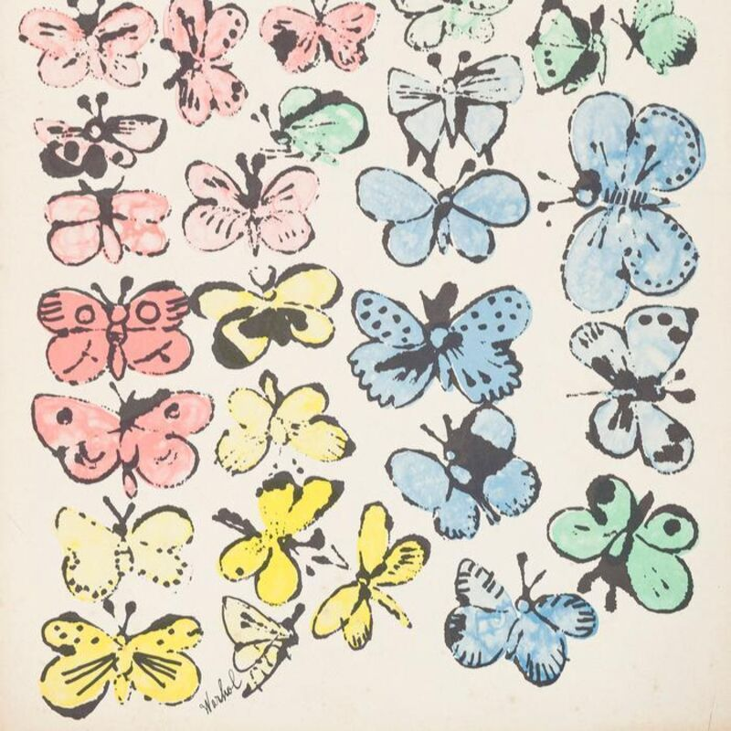 Andy Warhol, 'Happy Butterfly Days', 1956, Print, Offset lithograph in colors on manila folder, Caviar20