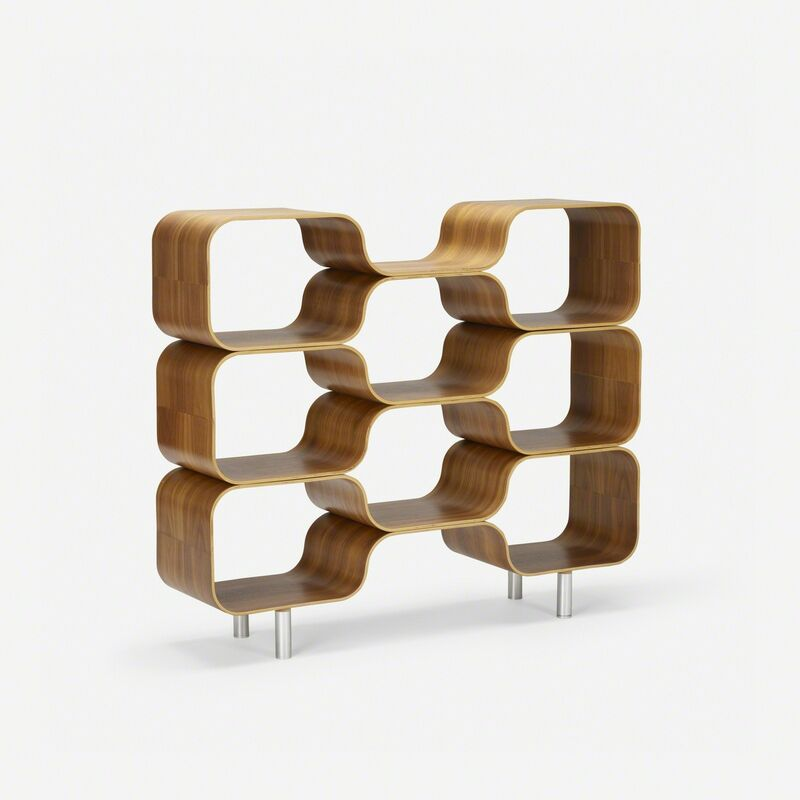 Chris Ferebee, 'Hive shelving system', 1999, Design/Decorative Art, Walnut plywood, aluminum, Rago/Wright/LAMA