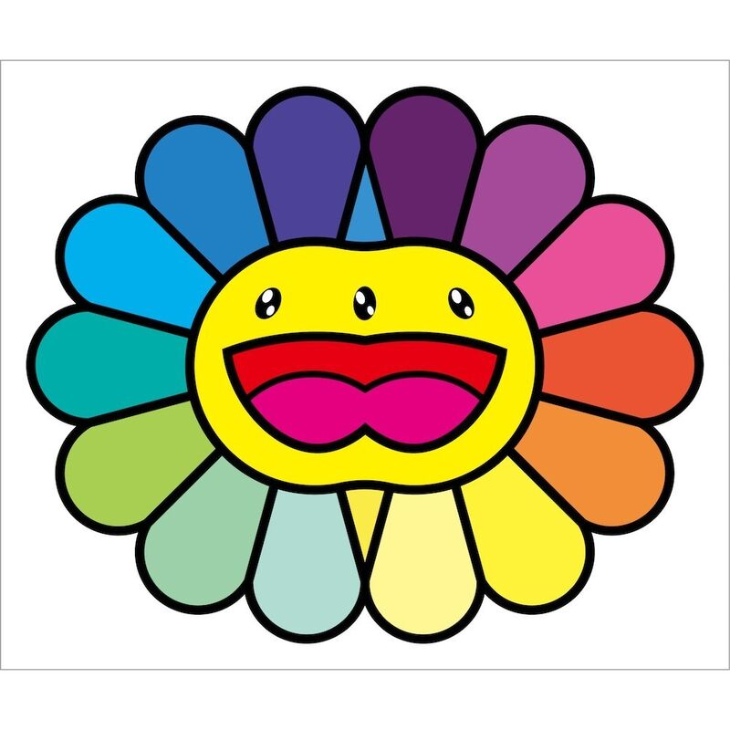 Takashi Murakami, 'MULTICOLOR DOUBLE FACE: YELLOW', 2020, Print, Silkscreen, Dope! Gallery