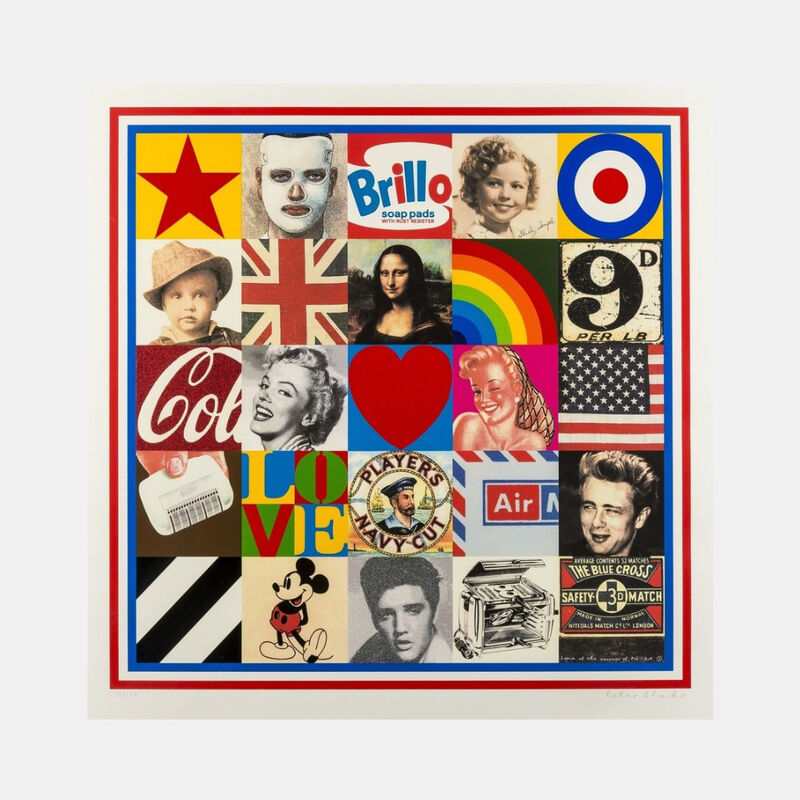 Peter Blake, 'Some of the Sources of Pop Art VII', 2007, Print, Screenprint in colours on paper, Lougher Contemporary