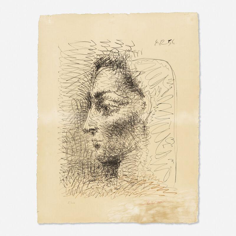 Pablo Picasso, 'Portrait de Jacqueline', 1956, Print, Lithograph in colors, Rago/Wright