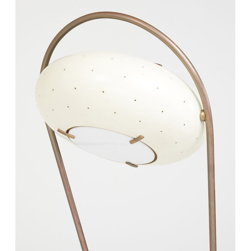 Attributed to Angelo Lelii, 'Adjustable Floor Lamp, Italy', 1950s, Design/Decorative Art, Marble, Brass, Tole, Acrylic, Rago/Wright