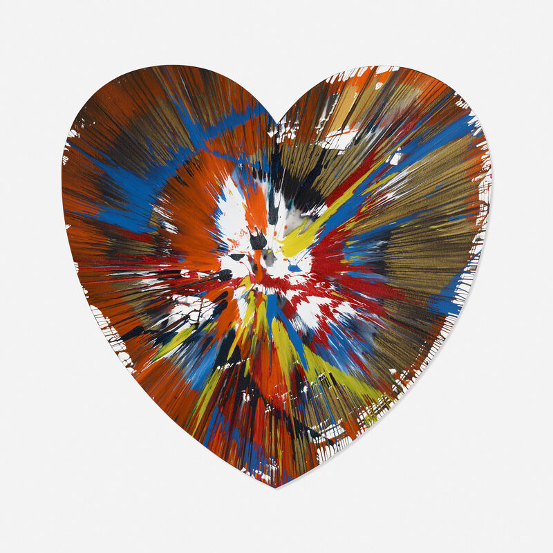 Damien Hirst, 'Heart Spin Painting', 2009, Painting, Acrylic on paper, Rago/Wright/LAMA