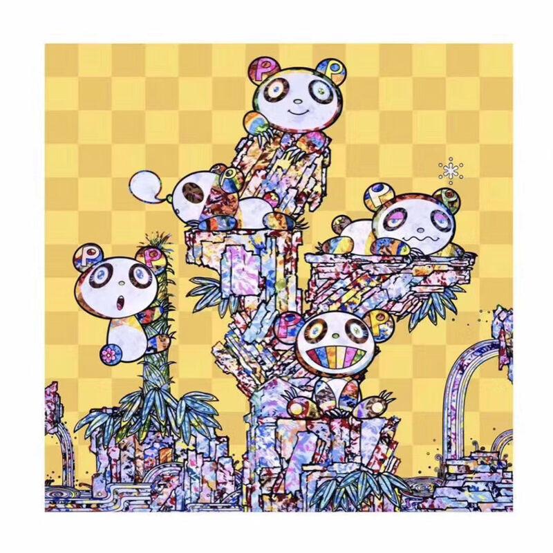 Takashi Murakami, 'Pandas Panda Cubs Panda', 2019, Print, 4c offset + cold stamp, U Square