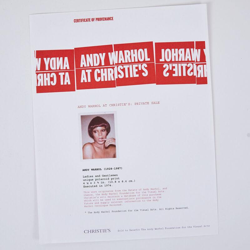 Andy Warhol, 'Ladies and Gentlemen', 1974, Photography, Unique polaroid print, Caviar20