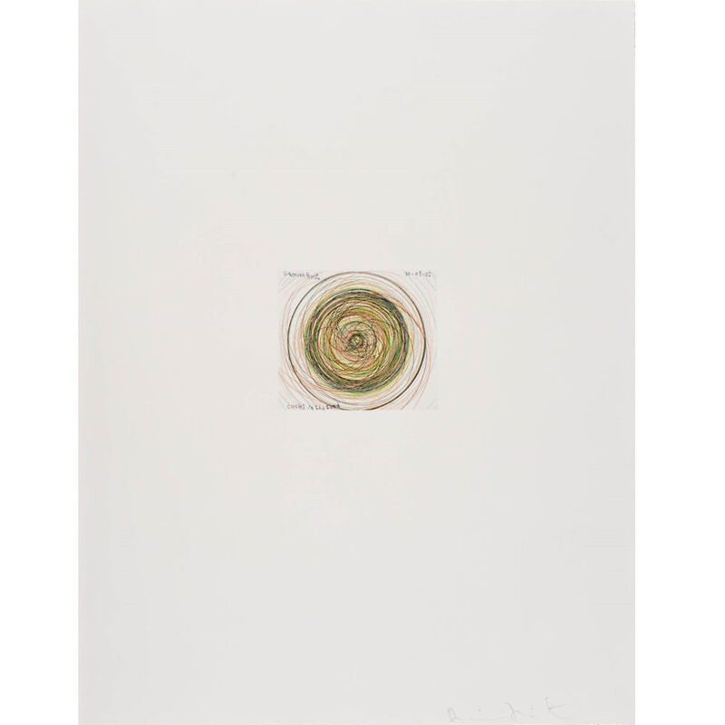 Damien Hirst, 'Circles in the Sand (from In a Spin, the Action of the World on Things, Volume I)', 2002, Print, Etching in color, Weng Contemporary
