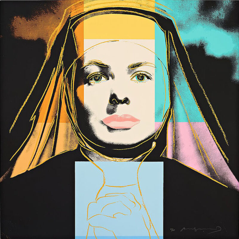 """Andy Warhol, 'Ingrid Bergman The Nun (From """"The Bells of St. Mary's"""")', 1983, Print, Color silkscreen on Lenox Museum Board, Masterworks Fine Art"""