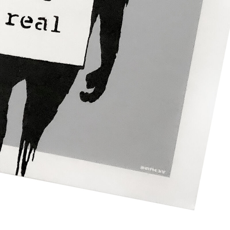Banksy, 'KEEP IT REAL / LAUGH NOW (Silver Cover Album)', 2008, Print, Offset print in silver and black colors on album cover, both sides and on vinyl record., Silverback Gallery