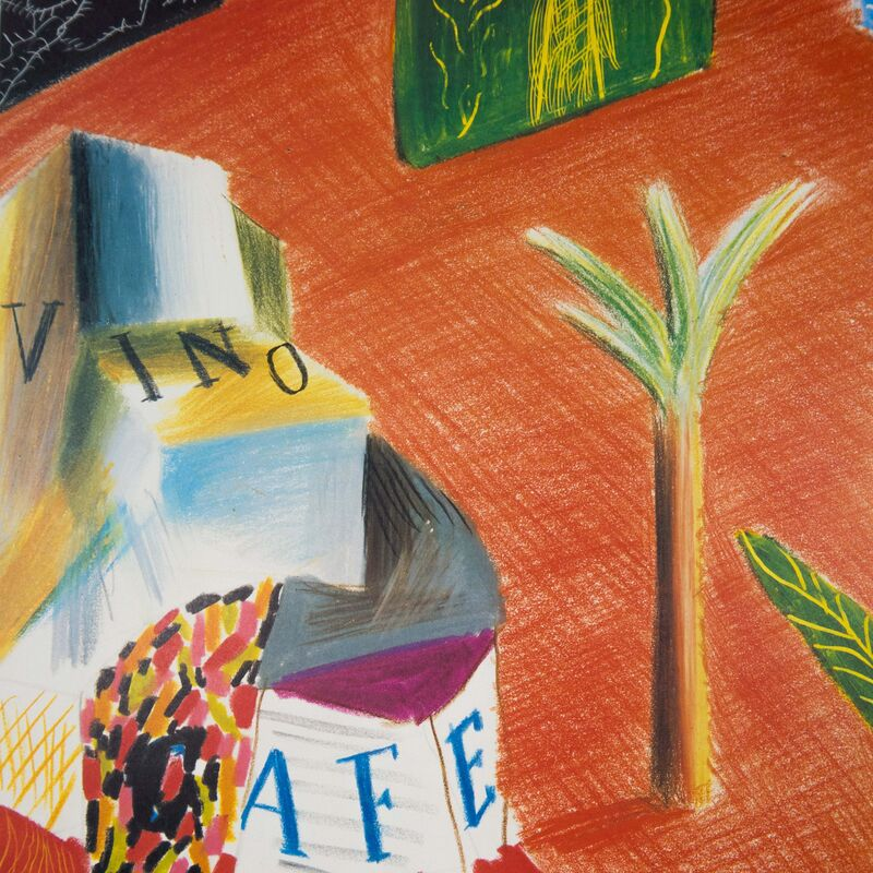 David Hockney, 'New World Festival of the Arts, Miami 1982 (Detail from The Zanazibar with Postcards 1980)', 1982, Posters, Offset lithograph on paper, Petersburg Press
