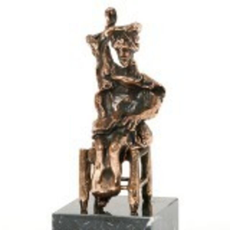 Salvador Dalí, 'Don Quixote Seated', Late 20th Century, Sculpture, Patinated bronze on marble base, Art Antika