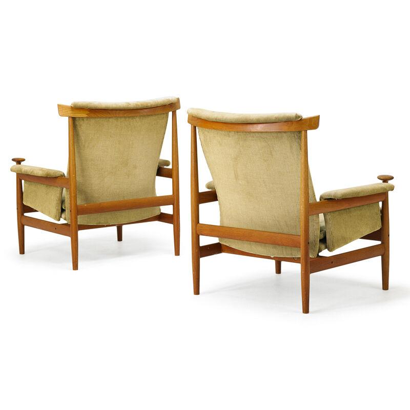 Finn Juhl, 'Pair Of Bwana Chairs, Denmark', 1960s, Design/Decorative Art, Teak, Upholstery, Rago/Wright