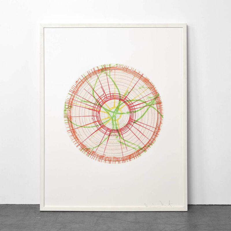 Damien Hirst, 'Liberty (from In a Spin, the Action of the World on Things, Volume I)', 2002, Print, Color etching on 350 gsm Hahnemühle, Weng Contemporary