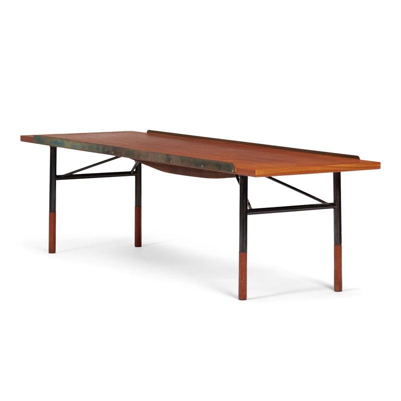 Finn Juhl, 'Table bench, model no. BO101', 1953, Design/Decorative Art, Top and shoes in teak, base in gun metal, top edges in polished brass, Dansk Møbelkunst Gallery