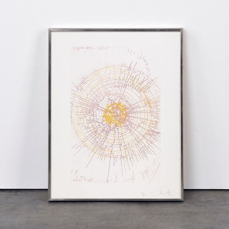 Damien Hirst, 'Lavender Baby (from In a Spin, the Action of the World on Things, Volume I)', 2002, Print, Etching in colour on 350gsm Hahnemühle paper, Weng Contemporary