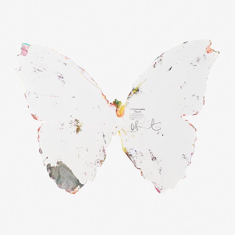 Damien Hirst, 'Butterfly Spin Painting (Created at Damien Hirst Spin Workshop)', 2009, Painting, Acrylic on paper, Rago/Wright