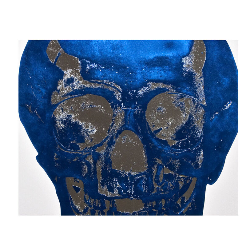 Damien Hirst, 'The Dead (Westminster Blue Silver Gloss Skull)', 2009, Print, Color Foil Block Print on Arches 88 paper, Weng Contemporary