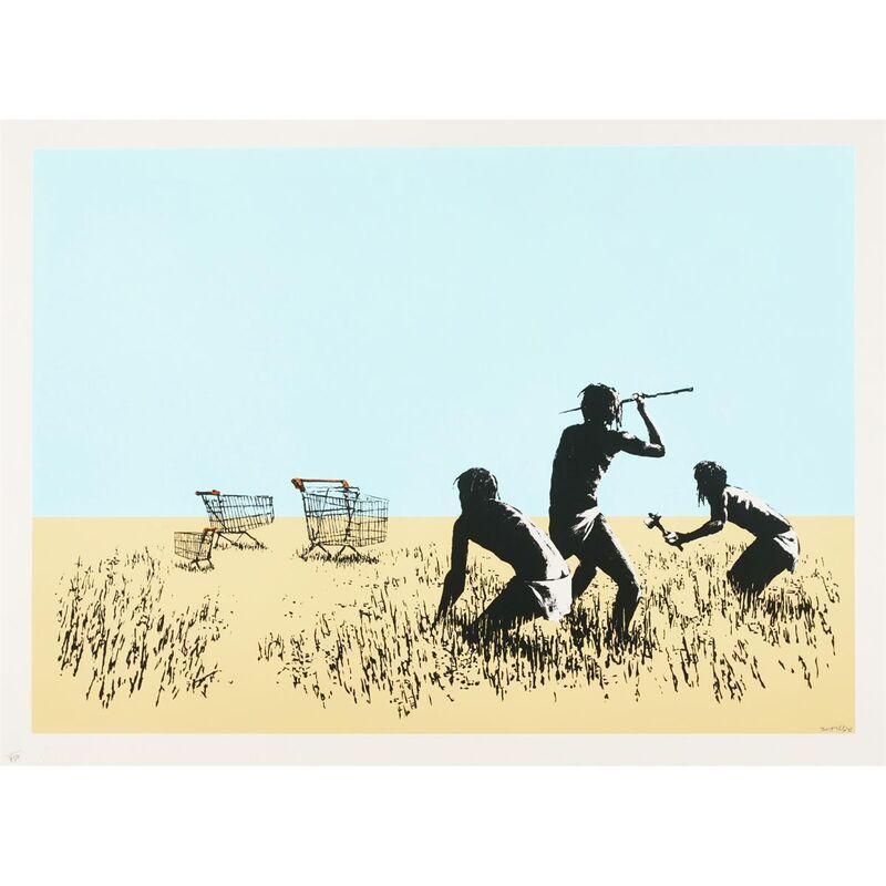 Banksy, 'Trolleys (colour)', 2007, Print, Silkscreen on paper, Graffik Gallery Limited
