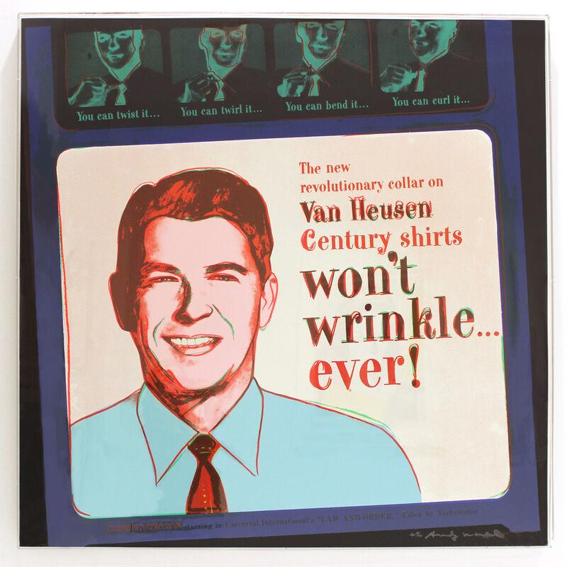 Andy Warhol, 'Van Heusen (Ronald Reagan) (FS II.356)', 1985, Print, Screenprint on Lenox Museum Board, Revolver Gallery
