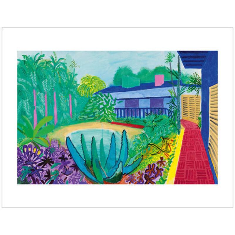 David Hockney, 'Garden', 2017, Print, Ten colour giclée printed on 330 gsm Somerset Enhanced Radiant White 100% cotton rag paper with torn edges, EHC Fine Art