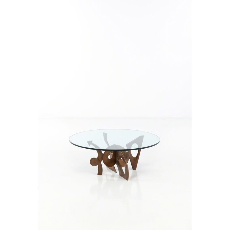 Pucci de Rossi, 'Romeo and Juliet - No. 5/25, Coffee Table', 1996, Design/Decorative Art, Bronze patiné et verre, PIASA