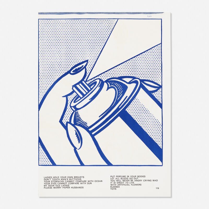 Roy Lichtenstein, 'Spray Can from the One Cent Life portfolio', 1963, Print, Lithograph in colors, Rago/Wright/LAMA