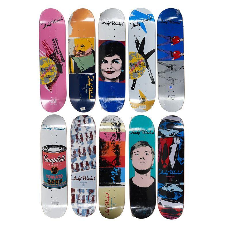 Andy Warhol, ca. 2010, Other, Ten Alien Workshop x Andy Warhol transfer-printed skateboard decks, Rago/Wright/LAMA