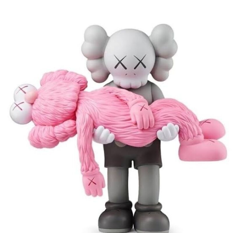 KAWS, 'GONE COMPANION GREY AND BFF PINK', 2019, Sculpture, Soft Vinyl, Rite Gallery