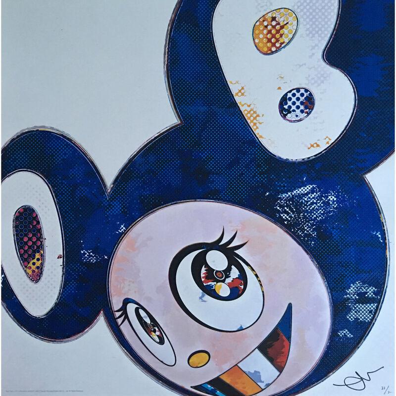 Takashi Murakami, 'And Then x 727 (Ultramarine GUNJO) - (Blue)', 2013, Print, Offset print, Lougher Contemporary