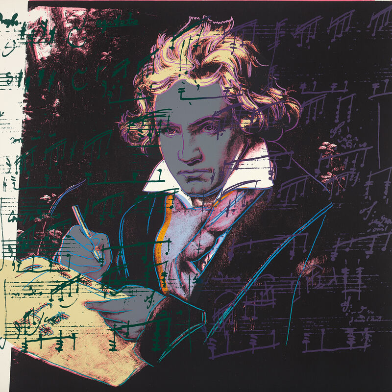Andy Warhol, 'Beethoven', 1987, Books and Portfolios, The complete set of four screenprints in colours, on Lenox Museum Board, the full sheets., Phillips