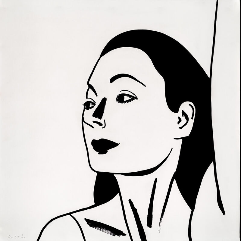 Alex Katz, 'Laura 2', 2018, Print, One-color etching on Saunders Waterford, HP, High White, 425 gsm, fine art paper, Haw Contemporary