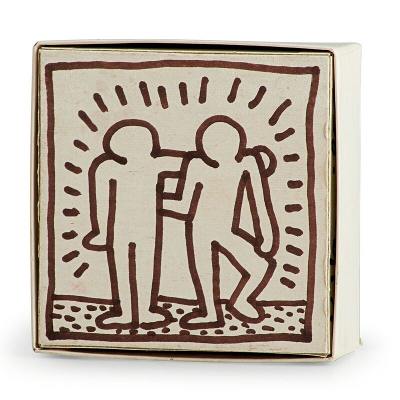 Keith Haring, 'Party of Life (At the Palladium)', 1985, Other, Marker on bottom half of puzzle box, Rago/Wright