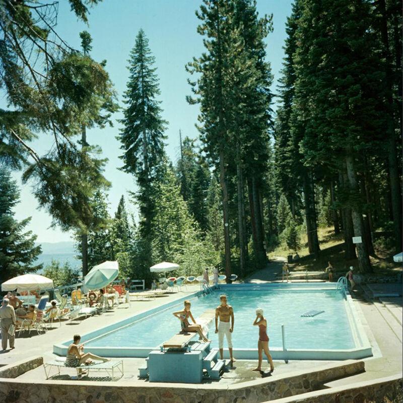 Slim Aarons, 'Pool at Lake Tahoe', 1959, Photography, Lambda print, IFAC Arts