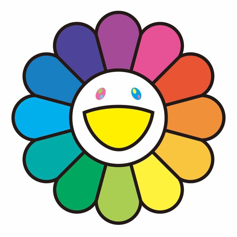 Takashi Murakami, 'Rainbow flower', 2020, Print, Silkscreen, Pinto Gallery
