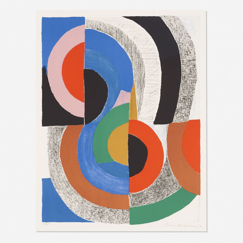 Sonia Delaunay, 'Hippocampe', 1971, Print, Lithograph on paper, Rago/Wright/LAMA