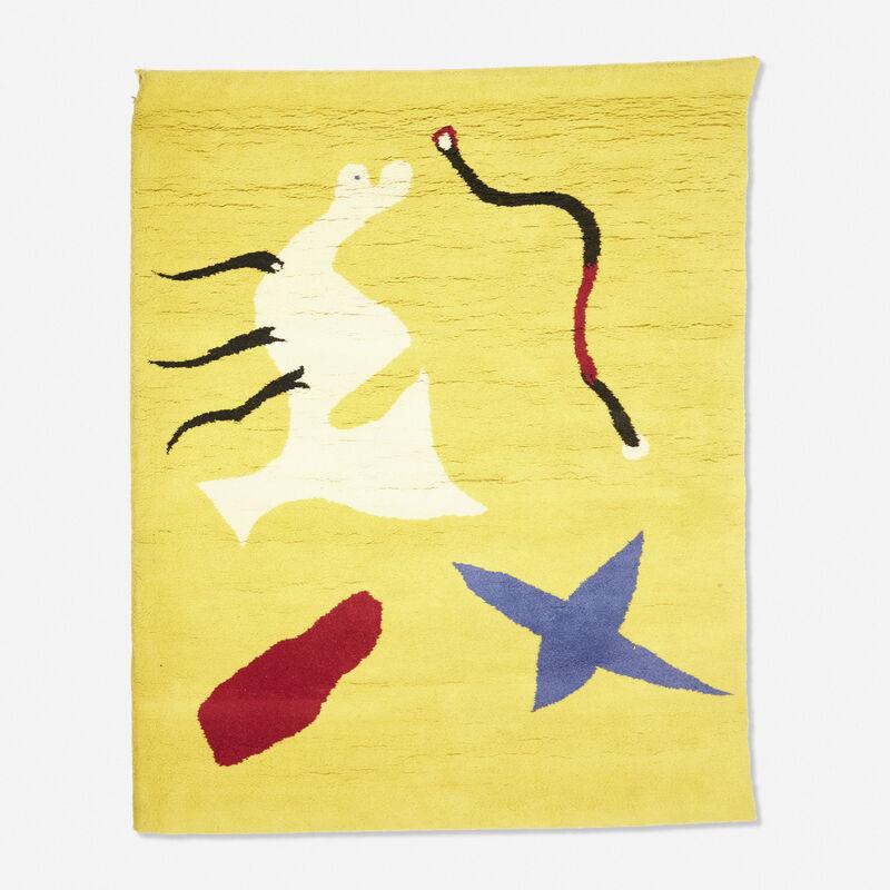 Joan Miró, 'La Mangouste tapestry', c. 1960, Textile Arts, Hand-woven wool, Rago/Wright/LAMA