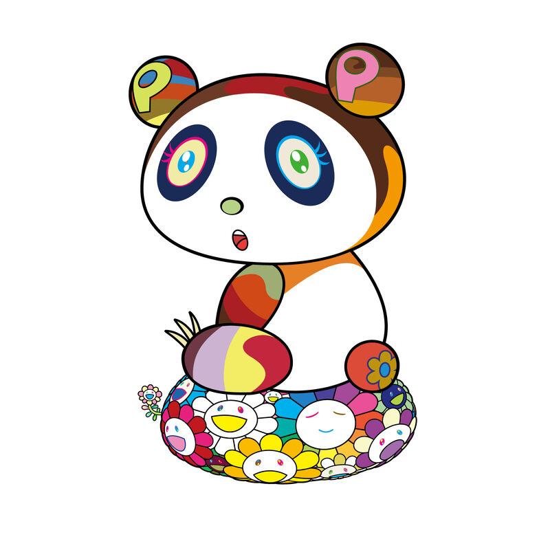 Takashi Murakami, 'Panda-chan is a cushion of flowers, Puyon Puyoung.', 2020, Print, Silkscreen, Pinto Gallery