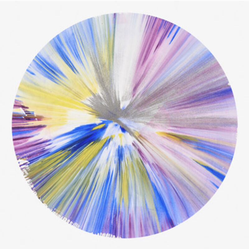 Damien Hirst, 'Circle Spin Painting', 2009, Painting, Mixed media on paper, Eternity Gallery